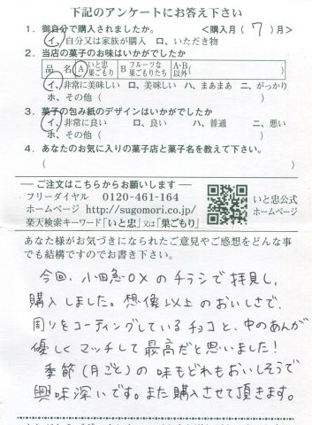 小田急OXのチラシで拝見、購入