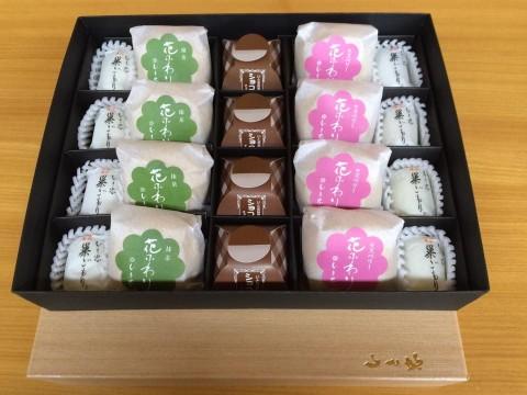 上郷店、飯田店では「花ふわり、ショコラの宴、いと忠巣ごもり」の20個入のセットが人気です♪
